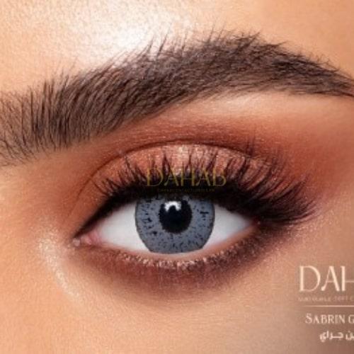 Buy Dahab Sabrin Gray Eye Contact Lenses - Gold Collection - dahabcontactlenses.pk