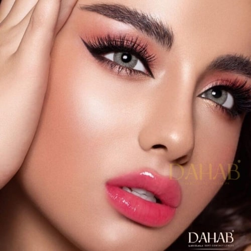 Buy Dahab Sabrin Gray Green Eye Contact Lenses - One Day Collection - dahabcontactlenses.pk